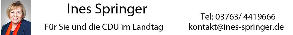 Ines Springer – MdL - Für Sie und die CDU im Sächsischen Landtag